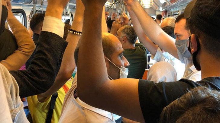 İstanbul'da metroda dikkat çeken kalabalık!