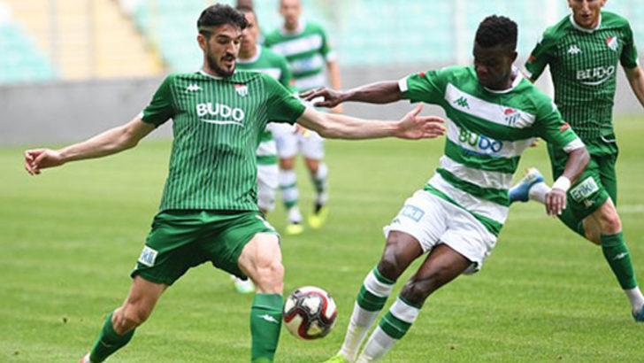 Bursaspor stadyumda çalıştı