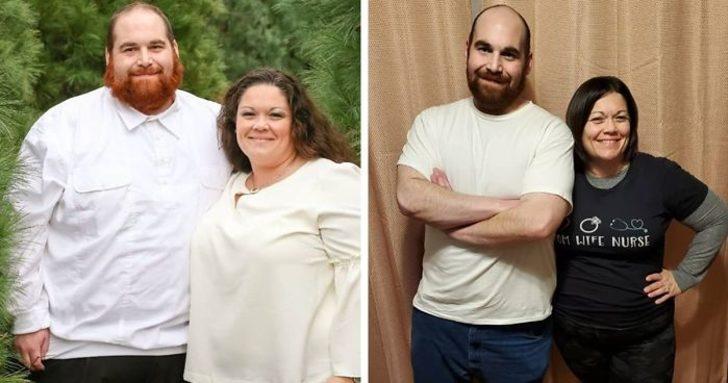 91 kilo verdi, eşine ilham oldu