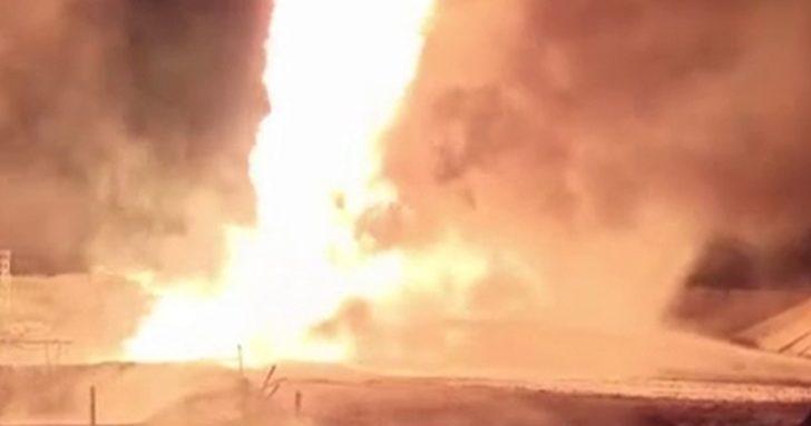Rusya'da petrol kuyusunda çıkan yangına tanksavarlı müdahale
