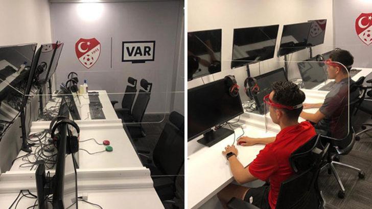 TFF Riva VAR Merkezi'nde Kovid-19 önlemleri