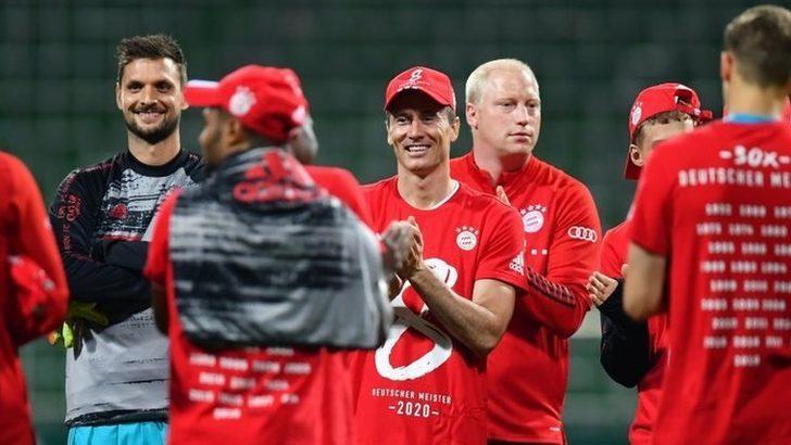 Bayern Münih, Bundesliga'da üst üste sekizinci kez şampiyon oldu