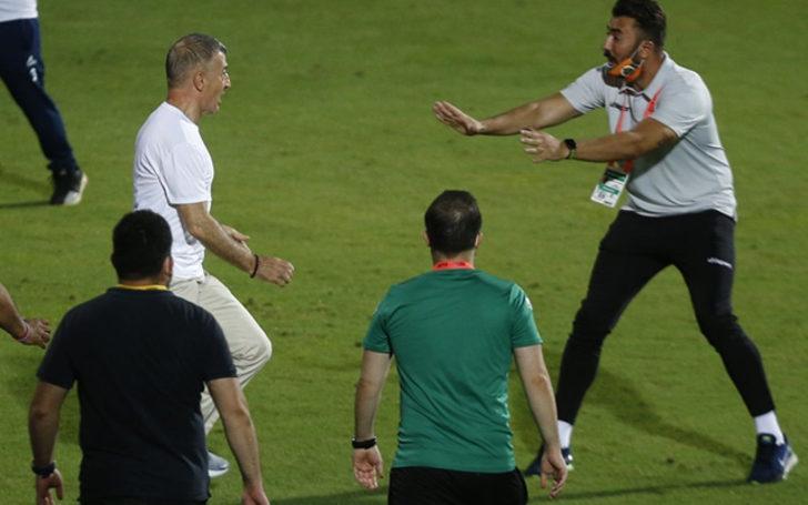 Maç bitiminde saha karıştı! Ahmet Ağaoğlu çok sinirlendi