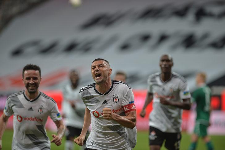 Beşiktaş-Konyaspor maçına Burak Yılmaz damga vurdu