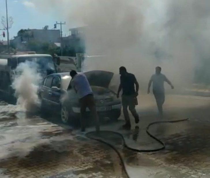 Adıyaman'da otomobil yangını