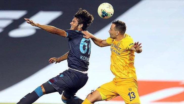Trabzonspor skor üstünlüğünü koruyamadı