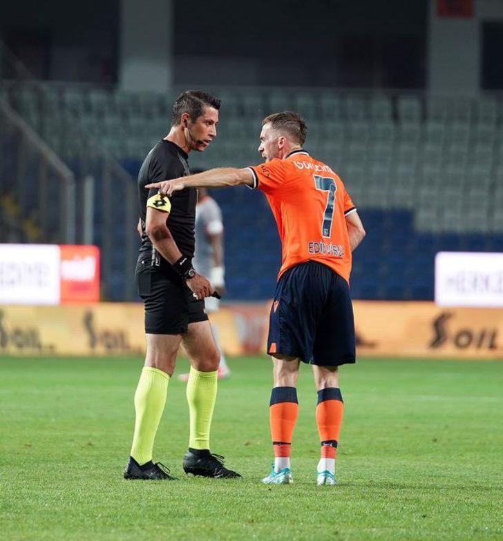 Başakşehir-Galatasaray maçında Edin Visca kırmızı kart gördü!