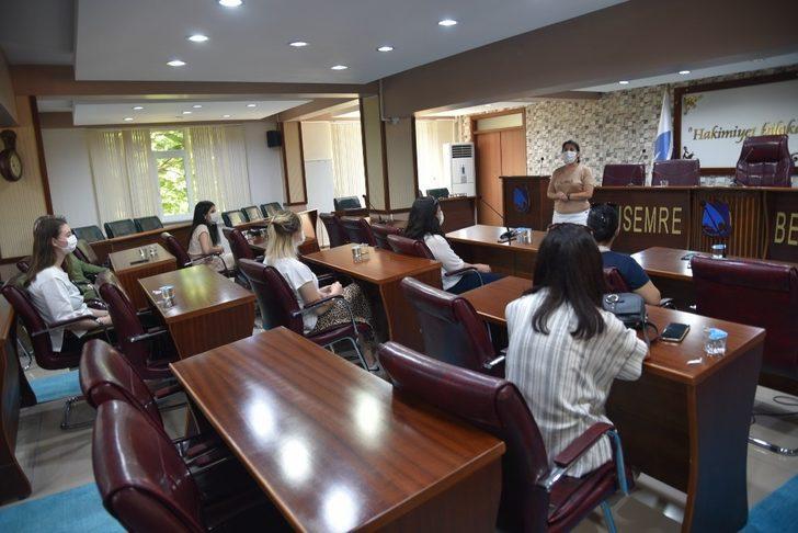 Yunusemre'de sosyal mesafeli eğitim