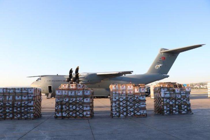 Etimesgut'tan bu sabah havalandı! Türkiye'den, Irak'a tıbbi malzeme yardımı