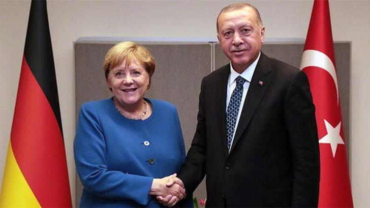 Cumhurbaşkanı Recep Tayyip Erdoğan ve Angela Merkel arasında kritik görüşme