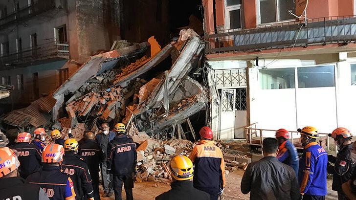 Erzurum'da 5 katlı bina çöktü! Çevre binalardakiler tahliye edildi