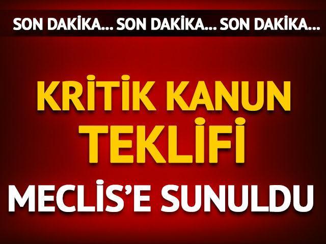 TSK'da yeni düzenleme! Kanun teklifi Meclis'e sunuldu