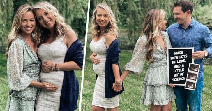 51 yaşındaki büyükanne kızının bebeğini taşıyor