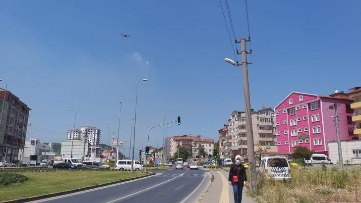 Polis dronla kırmızı ışık ihlallelerini tespit etti