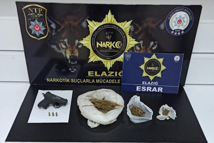 Elazığ'da uyuşturucu operasyonunda yakalanan 3 zanlı tutuklandı