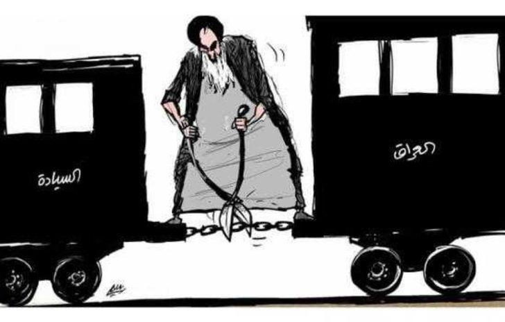 Irak'ı karıştıran karikatür! Ali Sistani yanlıları Yeşil Bölge'ye akın etti
