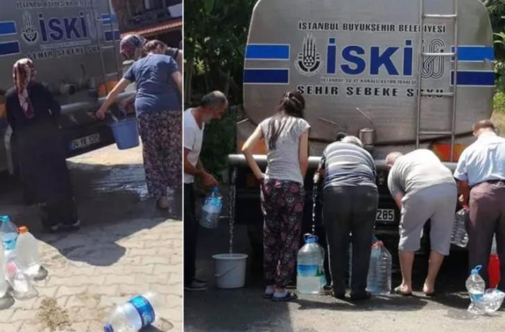 Şile'deki su kuyruğuna tepki! Bakan Varank'tan olay gönderme