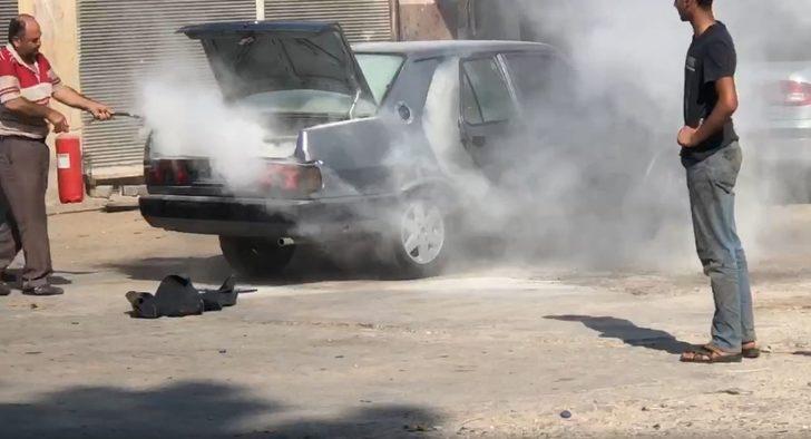 Aracın yakıt tankı sıcaktan bomba gibi patladı