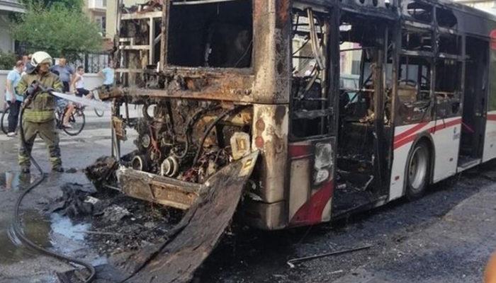 İzmir'de facia! Halk otobüsü alev topuna döndü