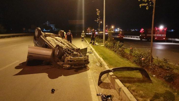 Afyonkarahisar'da feci kaza! Kontrolden çıkan otomobil takla attı: 2 yaralı