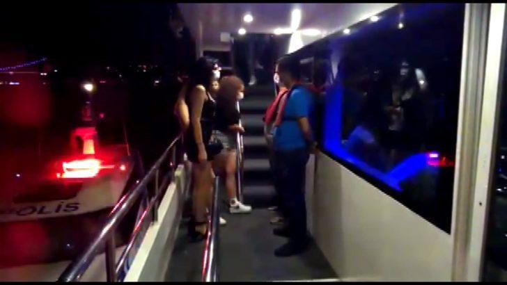 İstanbul'da teknedeki partiye koronavirüs baskını