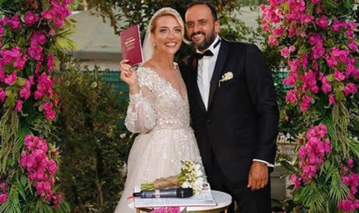 Ünlü sunucu Cansu Canan Özgen Bodrum'da evlendi
