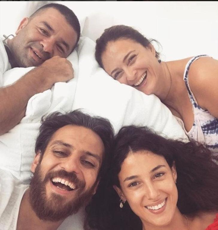Ceyda Düvenci ve Bülent Şakrak, Erkan Kolçak Köstendil eşi Cansu Tosun'un bebekleri Marsel'i karşıladı