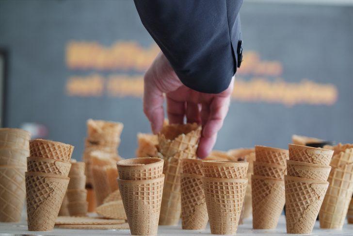 Bursa'da üretiliyor! Dondurma külahları 7 ülkeye ihraç ediliyor
