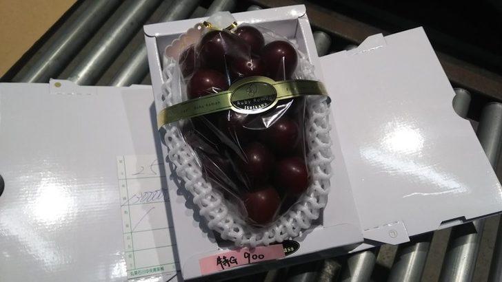 Kırmızı üzüm cinsi Ruby Roman'ın bir salkımı 83 bin liraya alıcı buldu