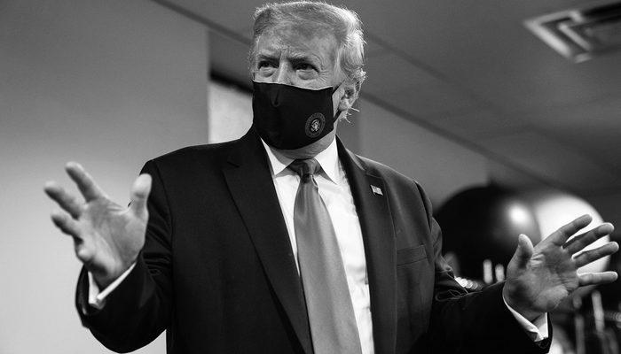 Trump'tan şaşırtan paylaşım! maskeyi taktı