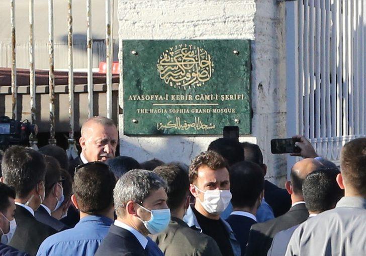 Cumhurbaşkanı Erdoğan ve Bahçeli'den Ayasofya'ya ziyaret!