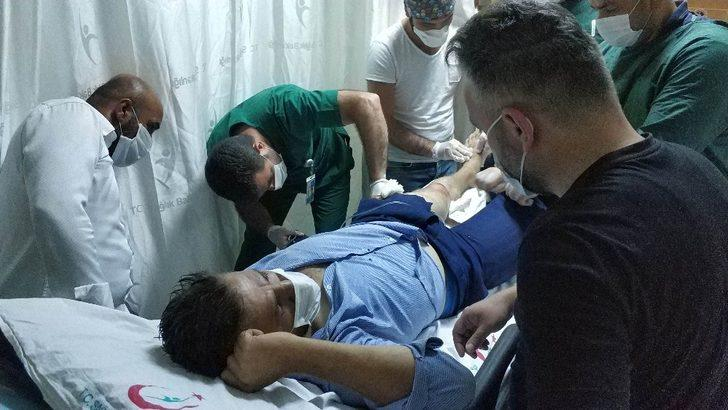 Kardeşinin silahlı saldırısına uğrayan kişi hastanelik oldu