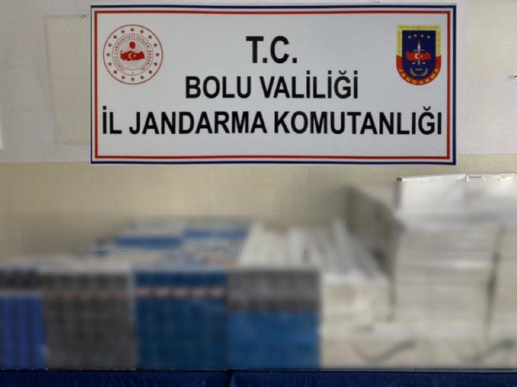 Bolu'da, 6 bin 253 paket kaçak sigara ele geçirildi