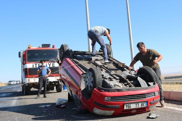 Kırşehir-Ankara Yolunda Kaza 2 Yaralı
