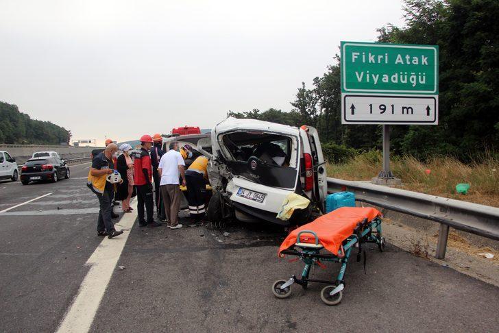 Bolu'da TEM Otoyolu'nda zincirleme kaza! 8 kişi yaralandı