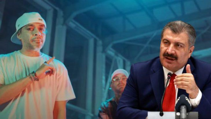 Ceza'dan Fahrettin Koca'ya şarkılı gönderme: Bana yaklaşmayın