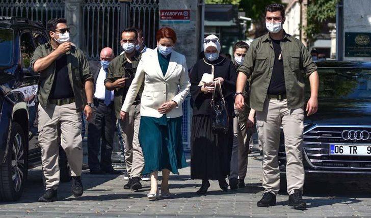 Meral Akşener'den Ayasofya Camii'ne ziyaret