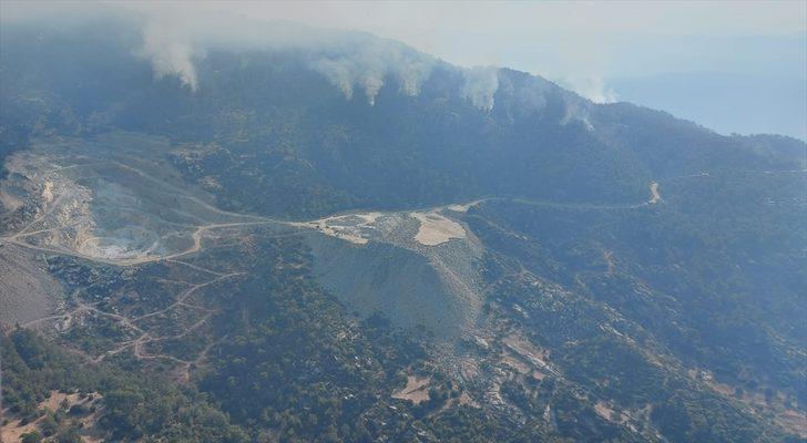 GÜNCELLEME - Aydın'da başlayıp Muğla'ya kadar ulaşan orman yangını kısmen kontrol altına alındı