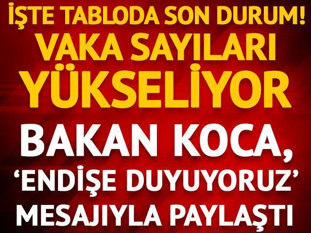 3 Ağustos 2020 Türkiye koronavirüs tablosu! Bakan Koca paylaştı