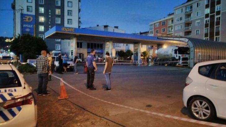 Giresun'da LPG tankerindeki sızıntı ekipleri harekete geçirdi