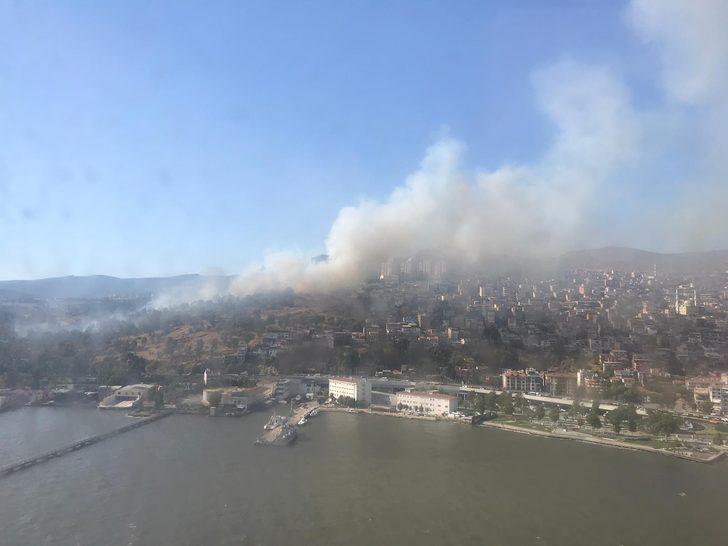 İzmir'de askeri alanda orman yangını