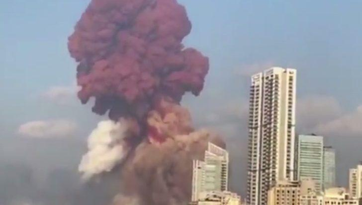 Lübnan, Macron'dan Beyrut'taki patlama anının uydu görüntülerini istedi
