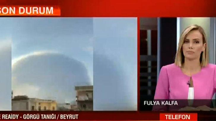 Görgü tanığı CNN Türk canlı yayınında Lübnan'daki patlamayı bu sözlerle tarif etti: Nükleer patlama gibiydi