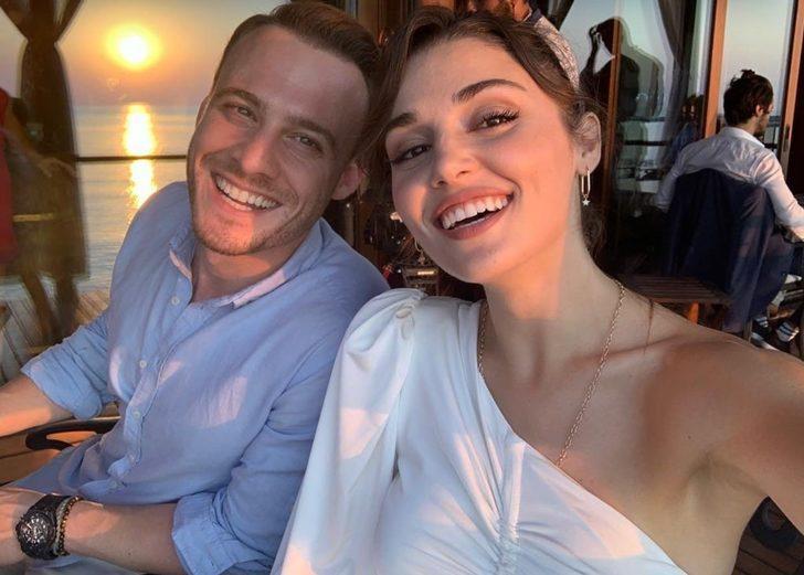 Sen Çal Kapımı dizisinin yıldızları Kerem Bürsin ve Hande Erçel'in paylaşımlarına beğeni yağdı