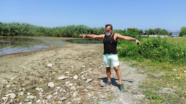 İznik Gölü 20 metre çekildi, halk tedirgin oldu