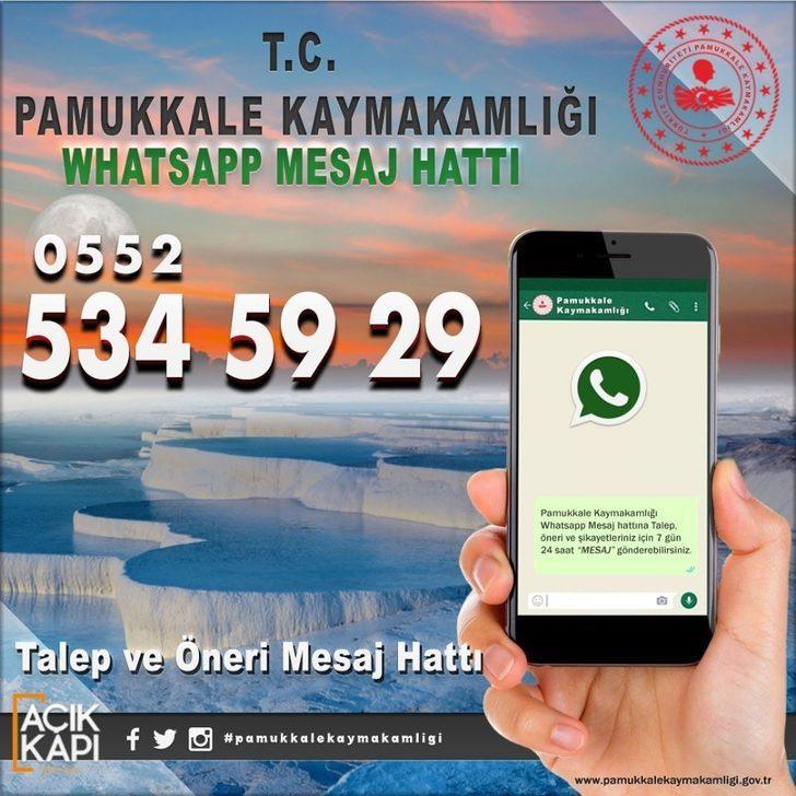 Kaymakamlıktan vatandaşlara özel Whatsapp hattı kuruldu