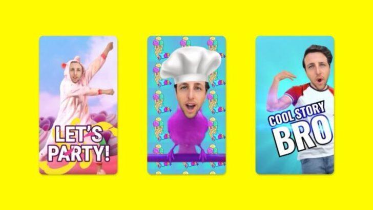 Snapchat kullanıcı yüzünü alarak animasyonlu sticker'a çevirecek