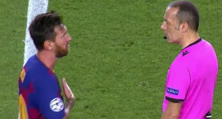 Messi ile Cüneyt Çakır arasında el sıkma krizi yaşandı
