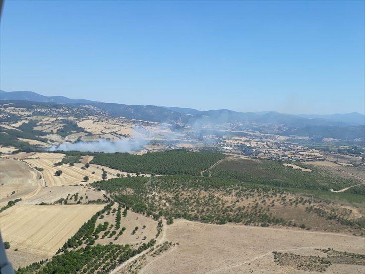 GÜNCELLEME - Çanakkale'de çıkan orman yangını kontrol altına alındı
