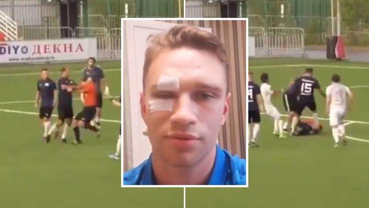 Roman Shirokov, amatör maçta hakemi hastanelik etti!